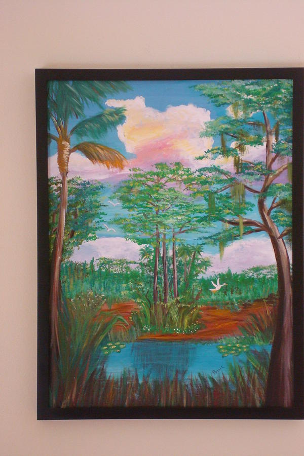 Water Painting - Framed By Nature by Patti Lauer
