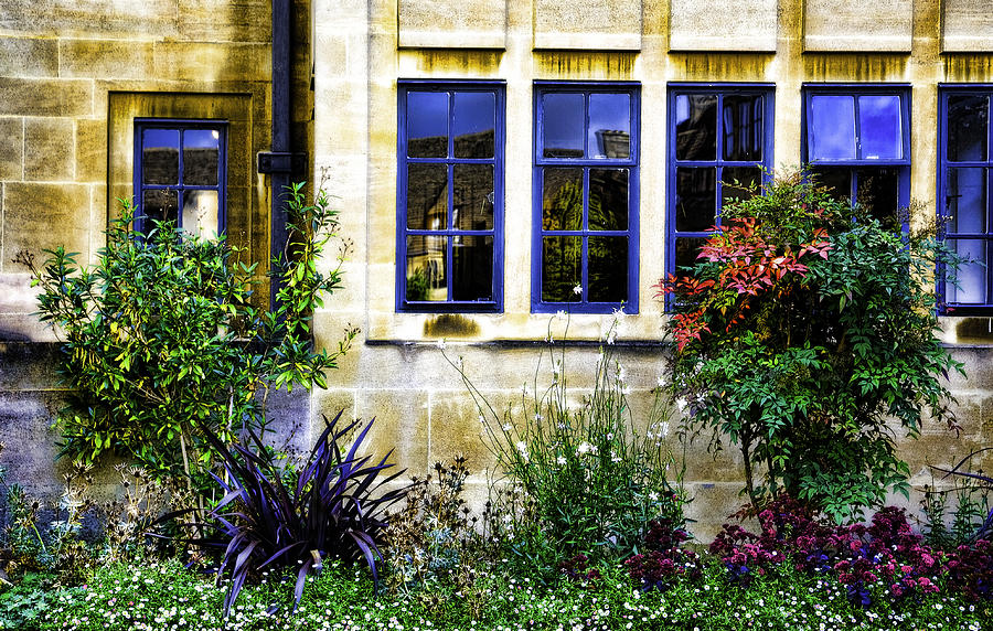 Windows Photograph - Framing In Blue  by Joanna Madloch