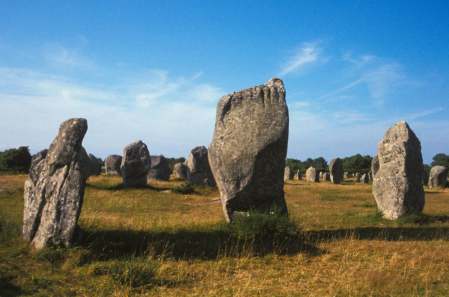 France Photograph - France Brittany Carnac Ancient Megaliths  by Anonymous