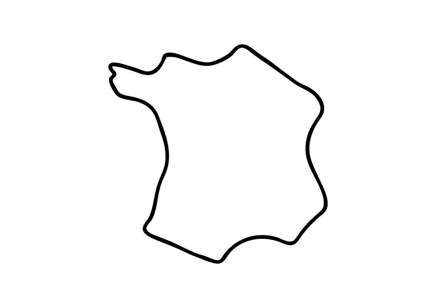 Map Of France Drawing.France French Map