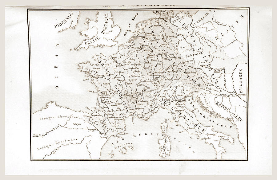 Map Of France Drawing.France Historique Et Monumentale Map By Litz Collection