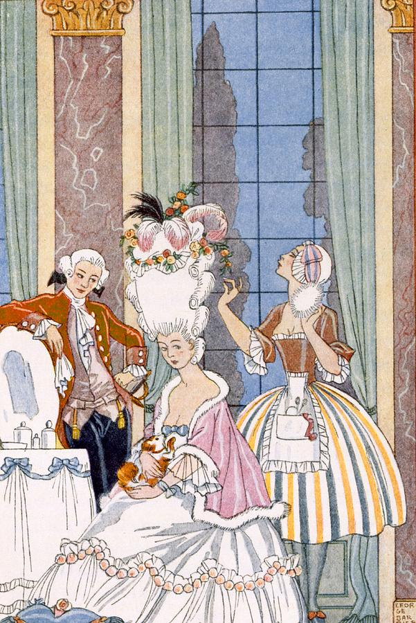 Stencil Painting - France In The 18th Century by Georges Barbier