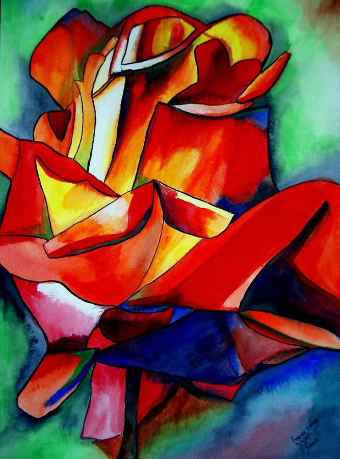 Rose Painting - France Libre Rose by Sacha Grossel