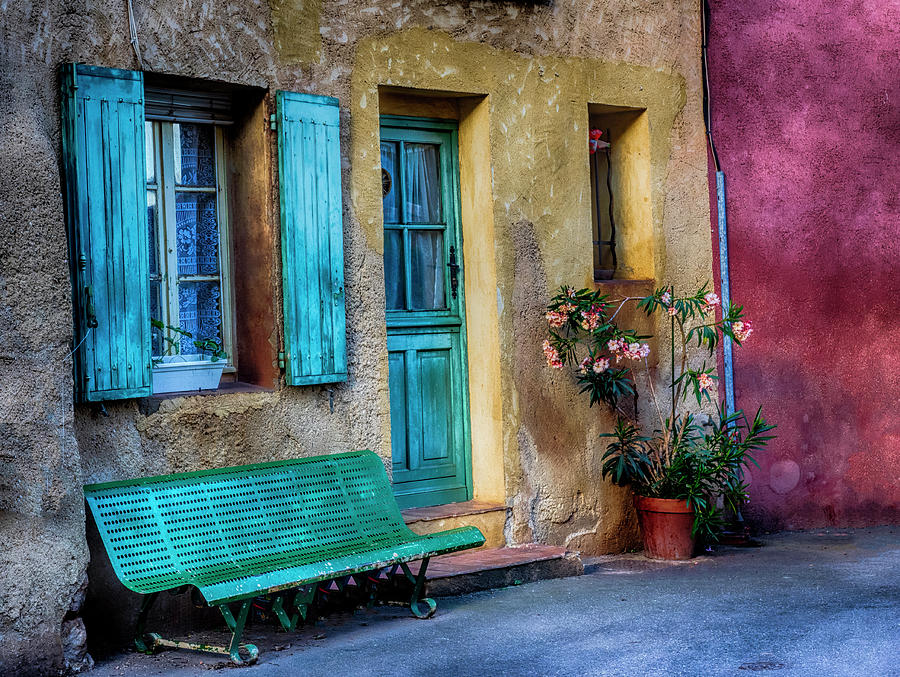Architecture Photograph - France, Provence, Roussillon, Colorful by Terry Eggers
