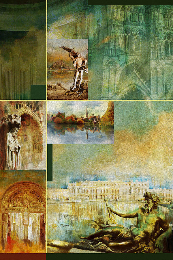 France Unesco World Heritage Poster Painting by Catf