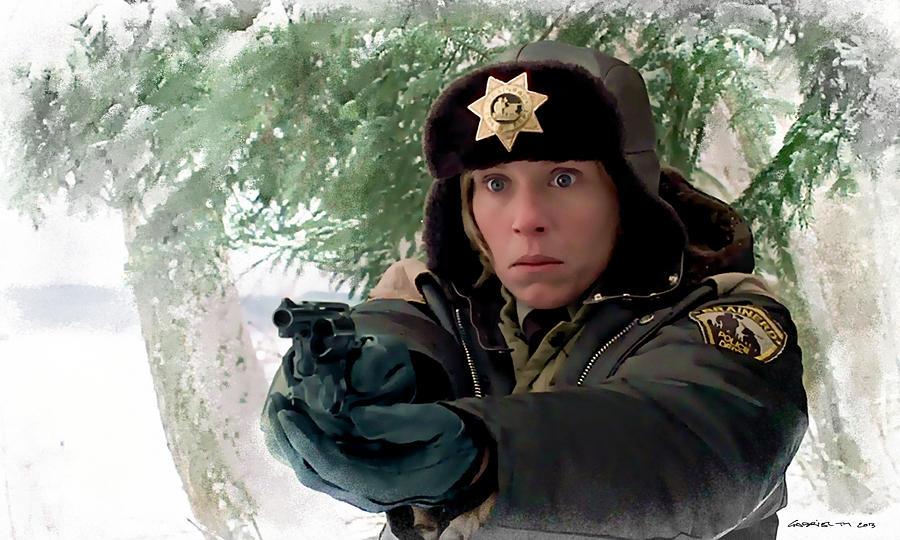 Fargo Digital Art - Frances McDormand as Marge Gunderson in the film Fargo by Joel and Ethan Coen by Gabriel T Toro