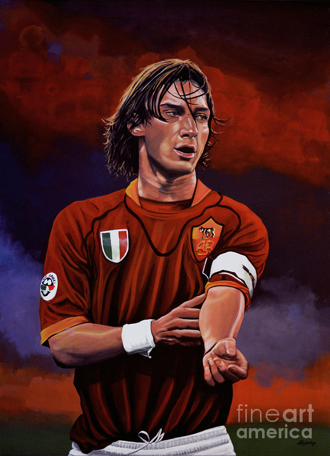 Francesco Totti Painting - Francesco Totti by Paul Meijering