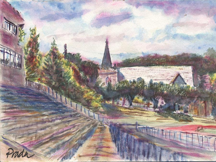 Watercolor Painting - Francis Field by Horacio Prada