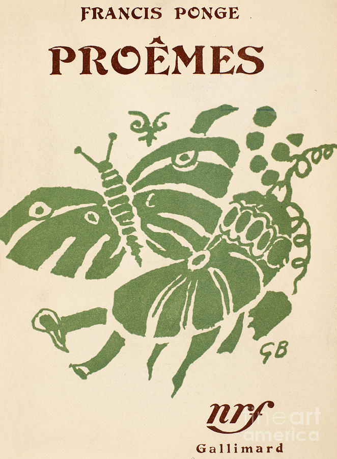 1948 Photograph - Francis Ponge: Proemes by Granger