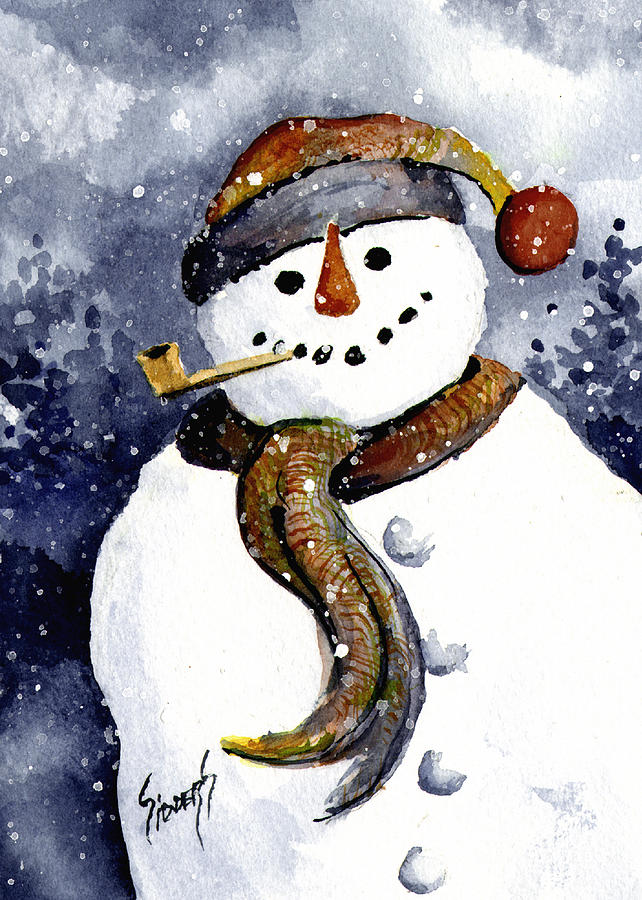 Snow Painting - Francis Snowman by Sam Sidders