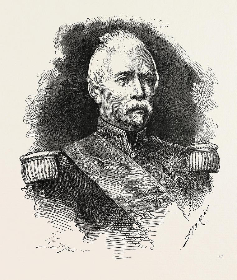 Louis Drawing - Franco-prussian War Louis Jean-baptiste Daurelle De by French School