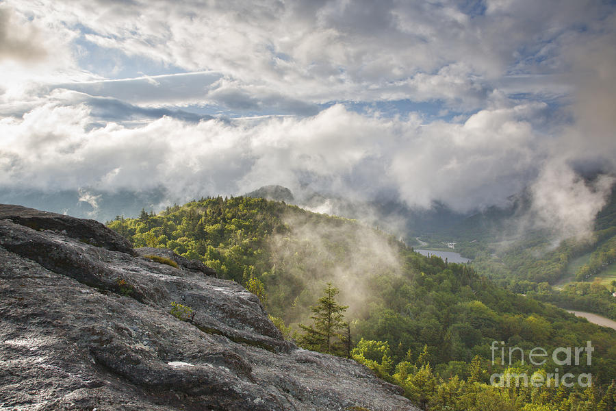 Atmosphere Photograph - Franconia Notch State Park - New Hampshire White Mountains  by Erin Paul Donovan