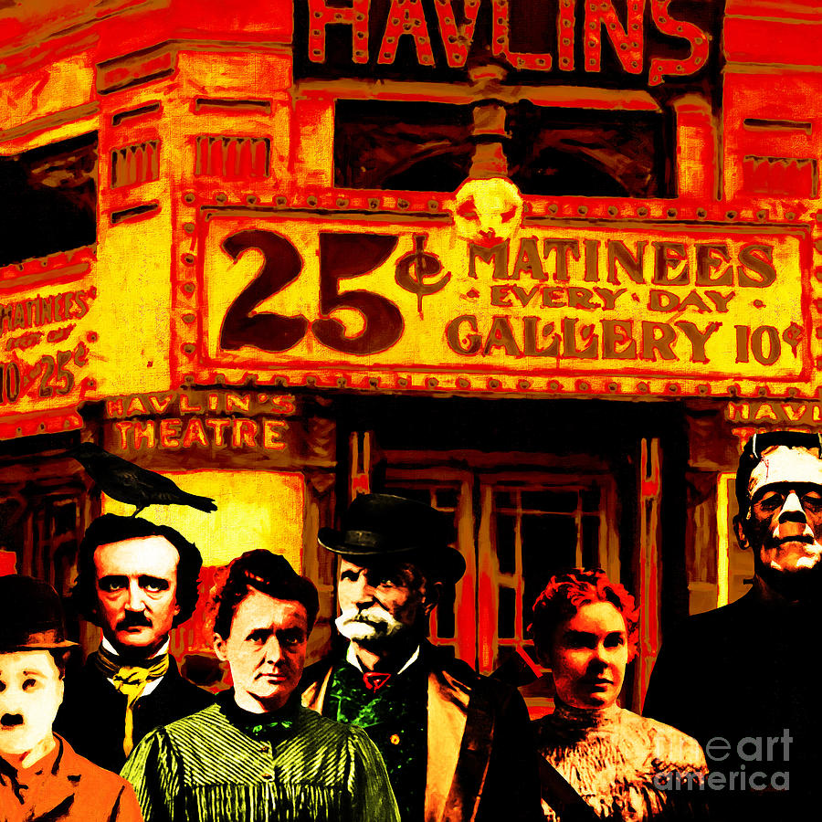 Famous Photograph - Frank and Friends Goes To The Vintage Havlins Theatre 25 Cents Matinees Everyday 20140812 square by Wingsdomain Art and Photography