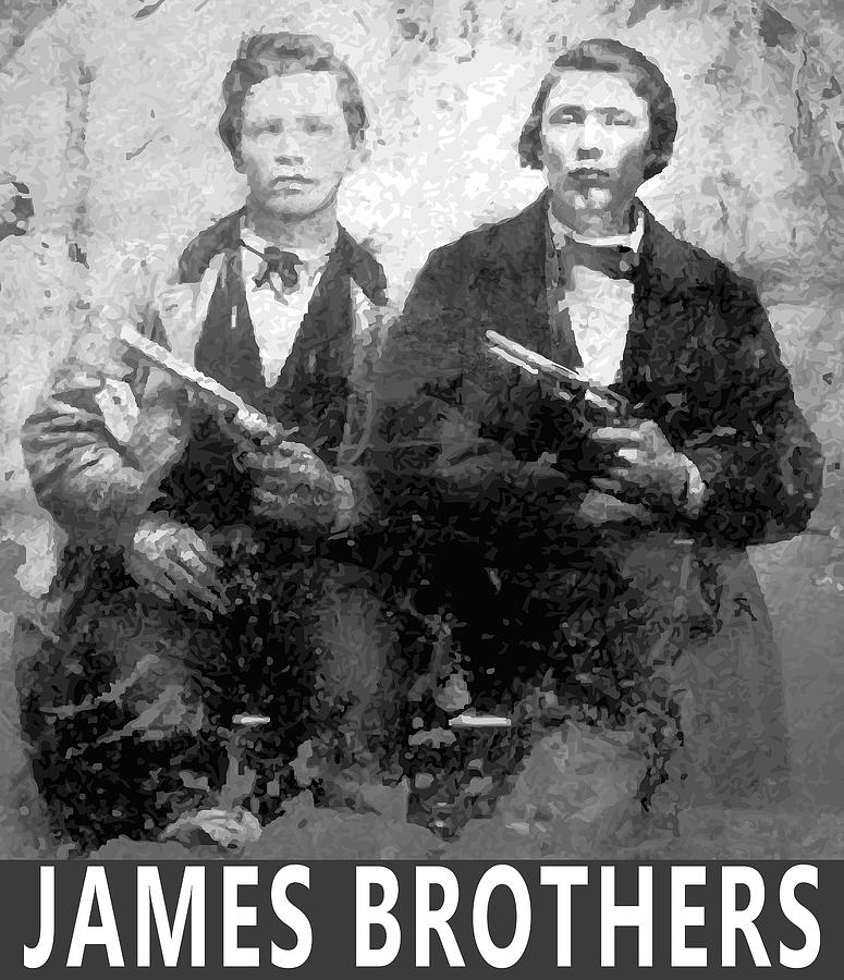 Frank And Jesse James Outlaws Digital Art by Daniel Hagerman