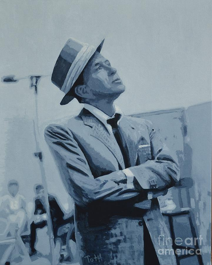 Frank Black And White Painting by Laura Toth