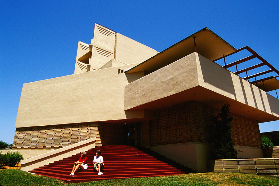 Frank lloyd wright building photograph by carl purcell - Frank lloyd wright structures ...