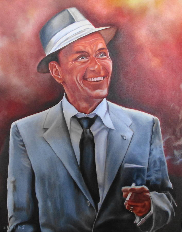 Frank Sinatra Painting by Mark Robinson
