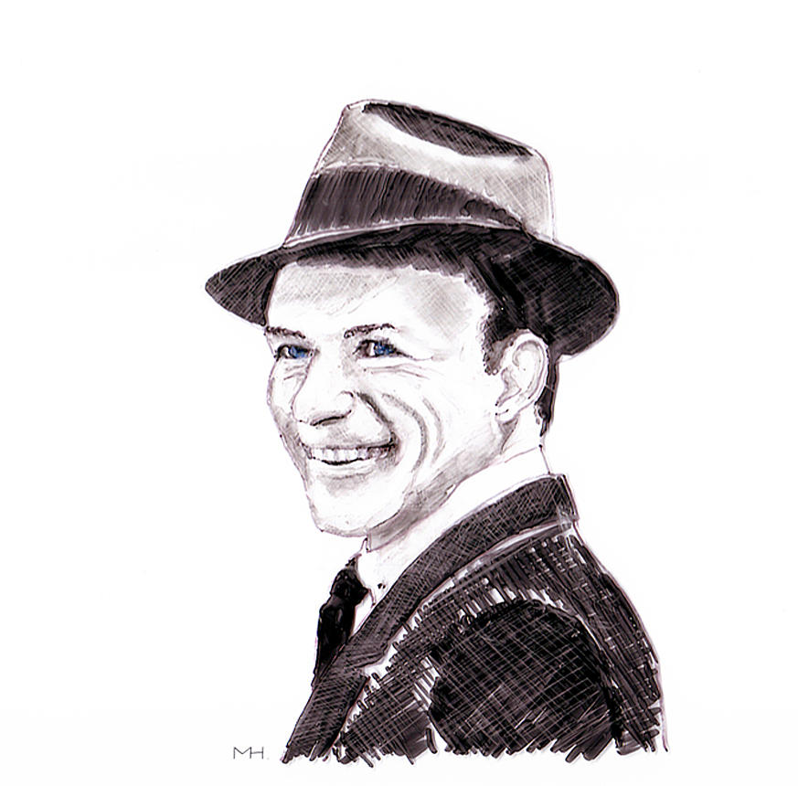 Portrait Drawing - Frank Sinatra by Martin Howard