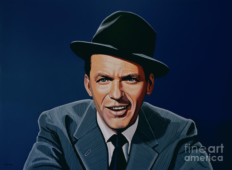 frank sinatra painting by paul meijering. Black Bedroom Furniture Sets. Home Design Ideas