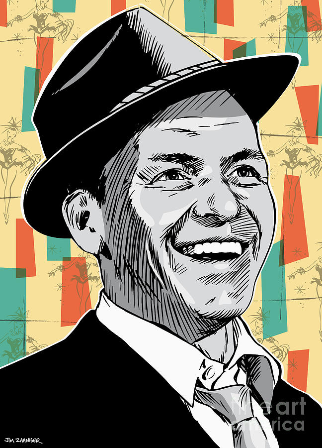 Music Drawing - Frank Sinatra Pop Art by Jim Zahniser