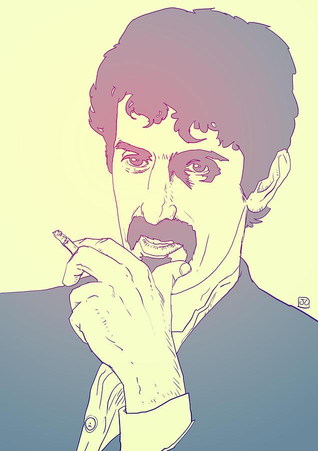 Zappa Drawing - Frank Zappa by Giuseppe Cristiano