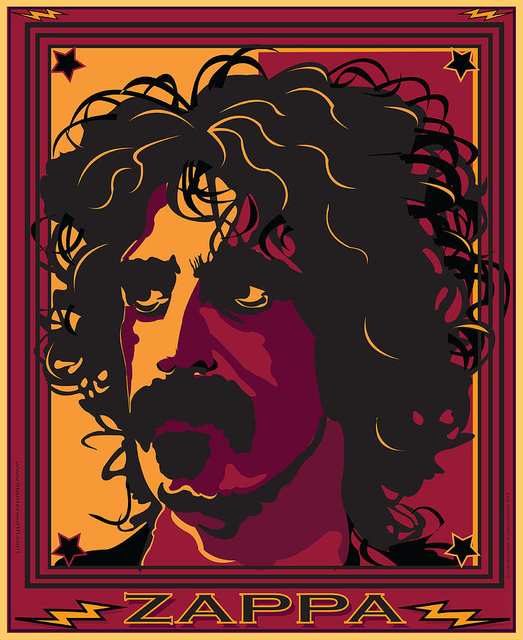 Celebrity Portrait Digital Art - Frank Zappa by Larry Butterworth