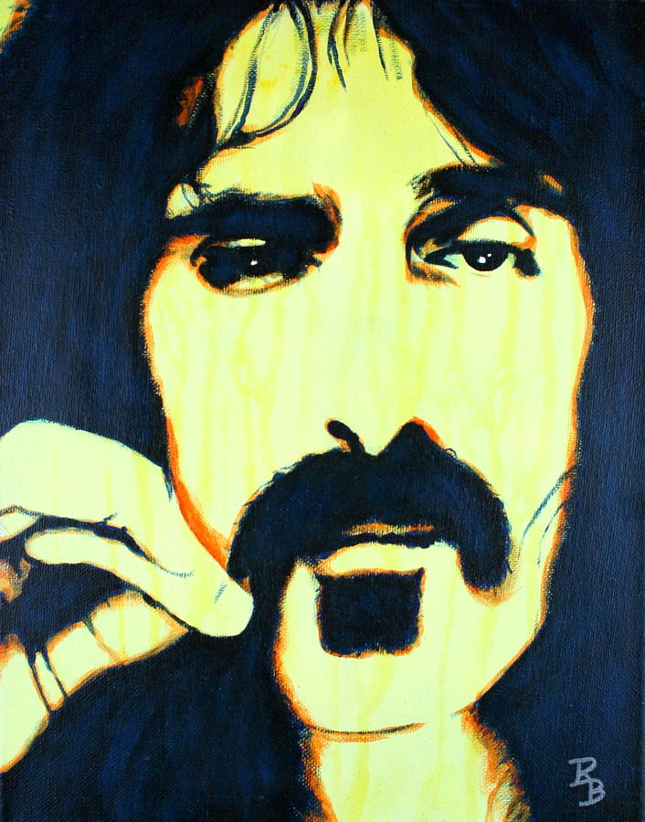 Frank Zappa Pop Art by Bob Baker