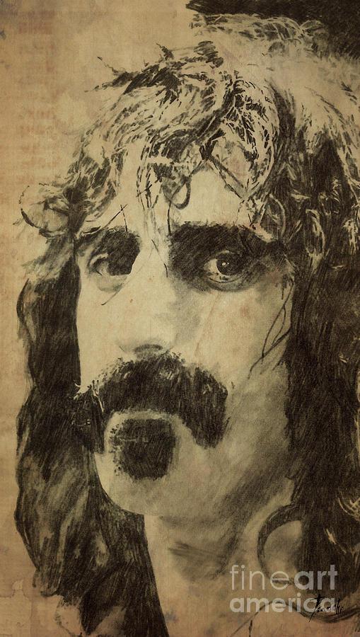 Frank Zappa Portrait Drawing