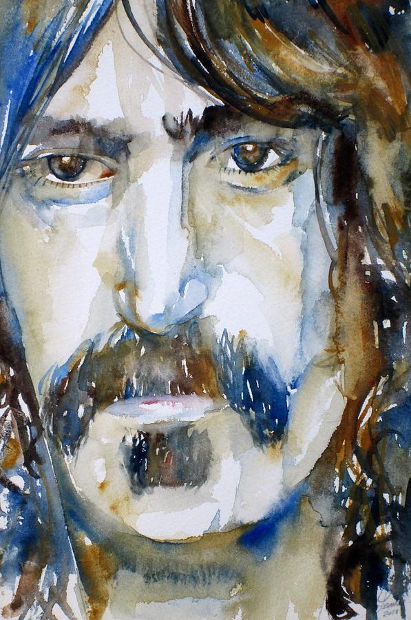 Frank Painting - Frank Zappa Watercolor Portrait.2 by Fabrizio Cassetta