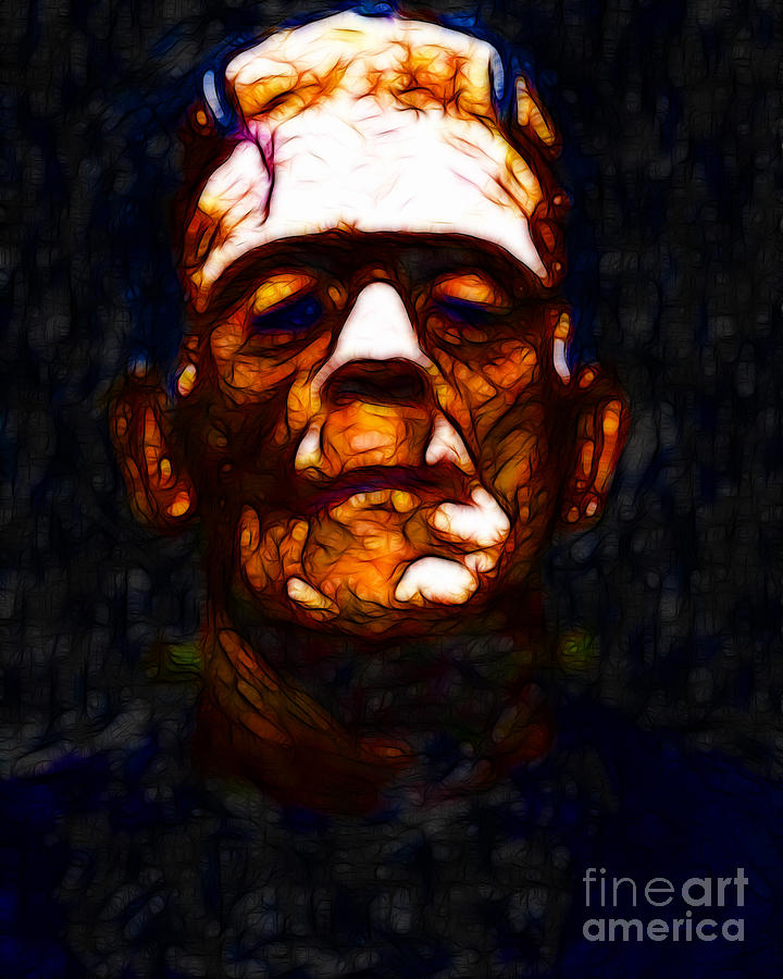 People Photograph - Frankenstein - Abstract by Wingsdomain Art and Photography
