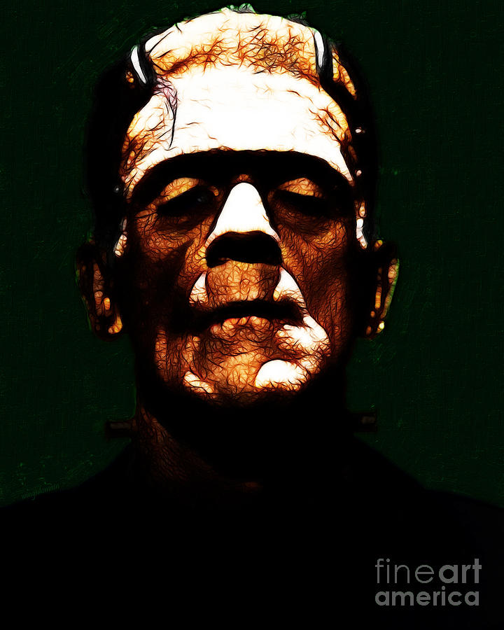 People Photograph - Frankenstein - Dark by Wingsdomain Art and Photography
