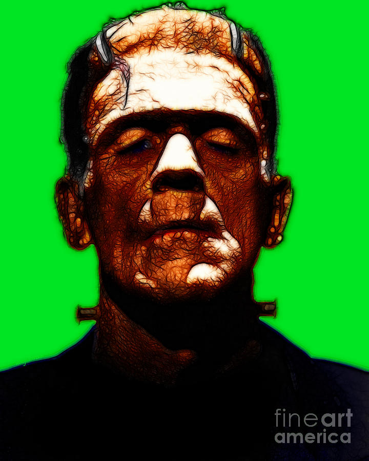 People Photograph - Frankenstein - Green by Wingsdomain Art and Photography