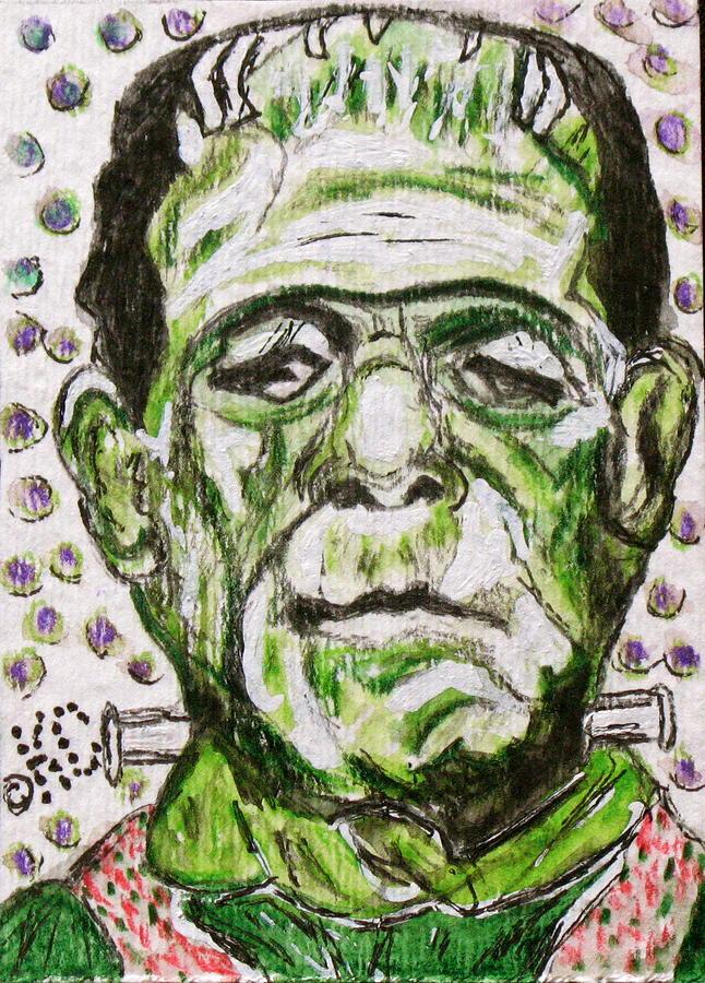 Frankenstein Painting - Frankenstein by Kathy Marrs Chandler