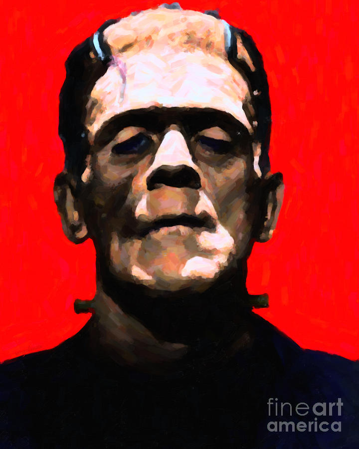 People Photograph - Frankenstein - Painterly - Red by Wingsdomain Art and Photography