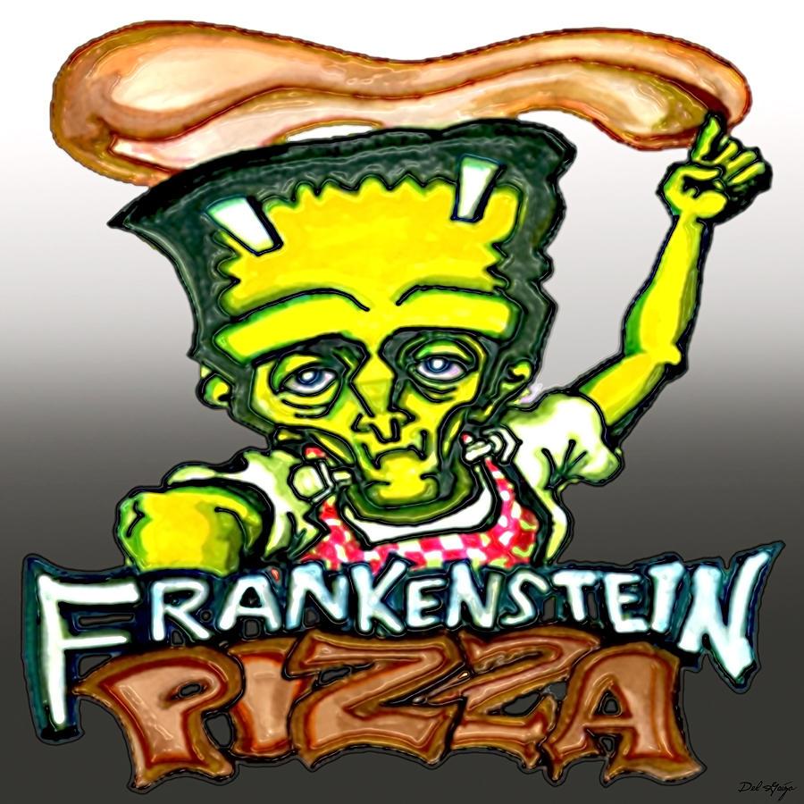 Frankenstein Pizza Or The Modern Prometheuss Pasta Digital Art