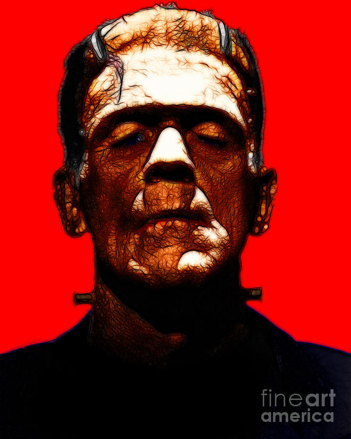 Celebrity Photograph - Frankenstein - Red by Wingsdomain Art and Photography