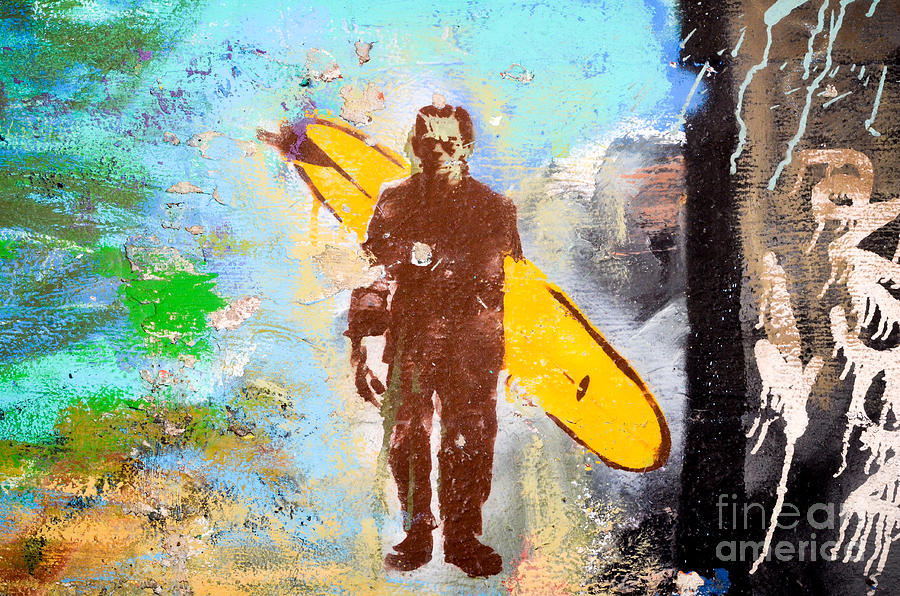 Graffiti Photograph - Frankenstein Surf Graffiti by Amy Fearn