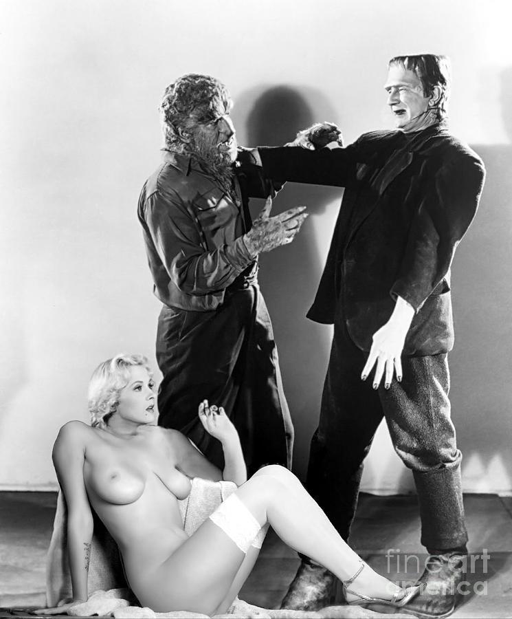 Frankenstein Photograph - Frankenstein Werewolf Fantasy Nude by Jorge Fernandez
