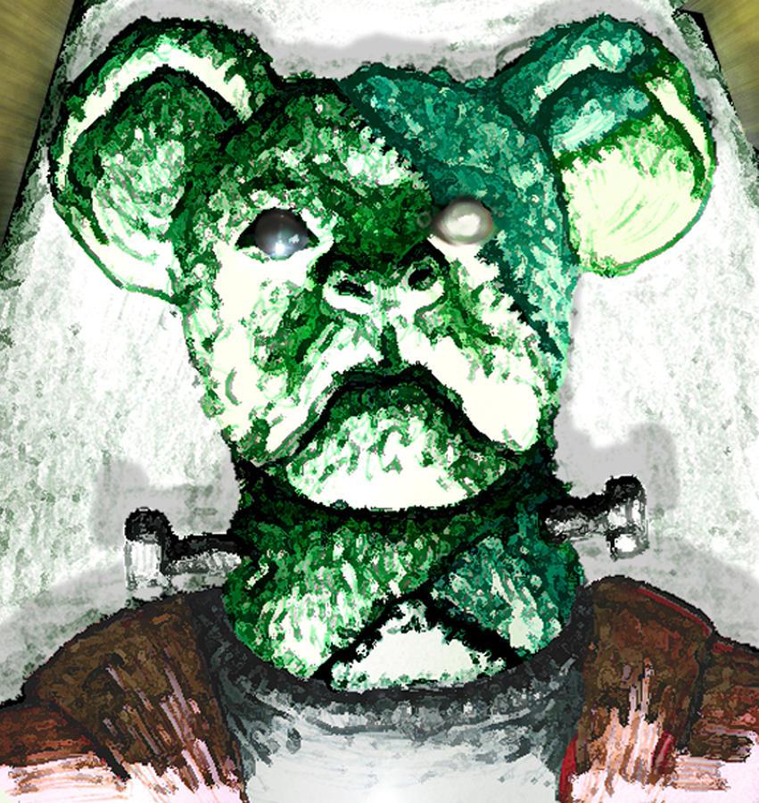 Undead Drawing - Frankensteins Koala by Del Gaizo