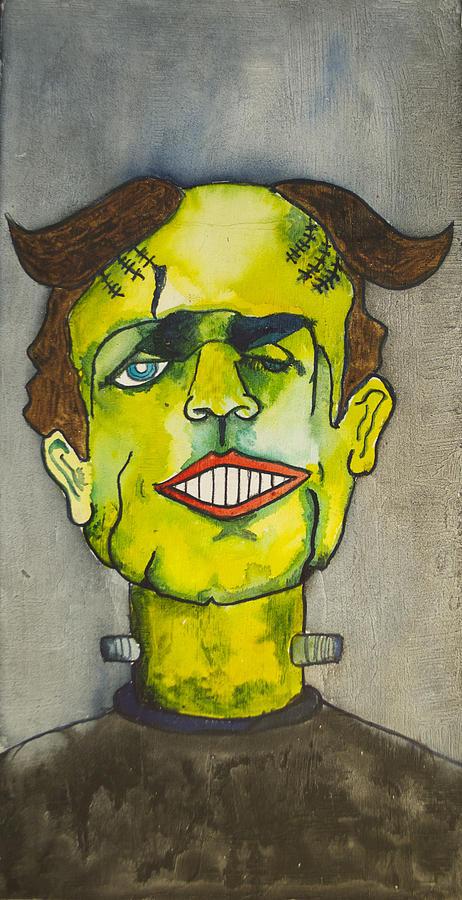 Frankenstein Painting - Frankensteins Monster As Tillie by Patricia Arroyo