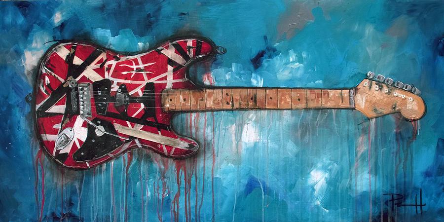 Eddie Van Halen Painting - Frankenstrat by Sean Parnell