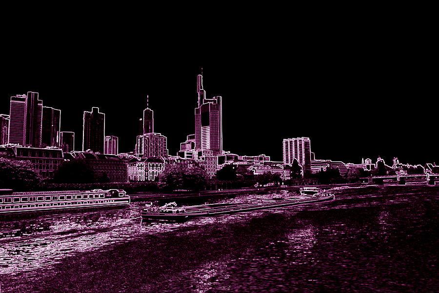 Frankfurt Purple Photograph by Adam  S