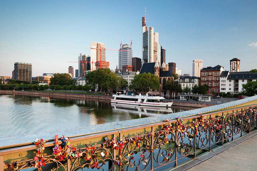Frankfurt Skyline And River Main At Photograph by Jorg Greuel