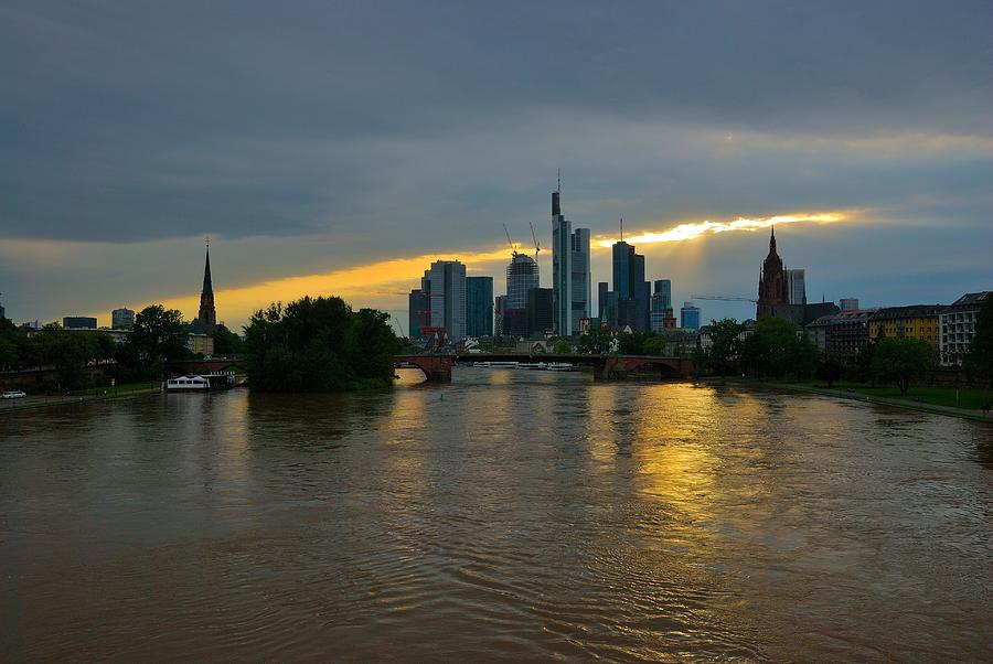 Frankfurt Photograph - Frankfurt Sunset by Steven Richman