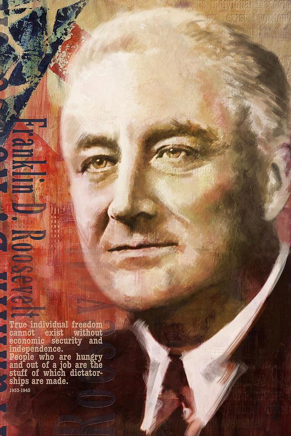 Franklin D. Roosevelt Painting - Franklin D. Roosevelt by Corporate Art Task Force