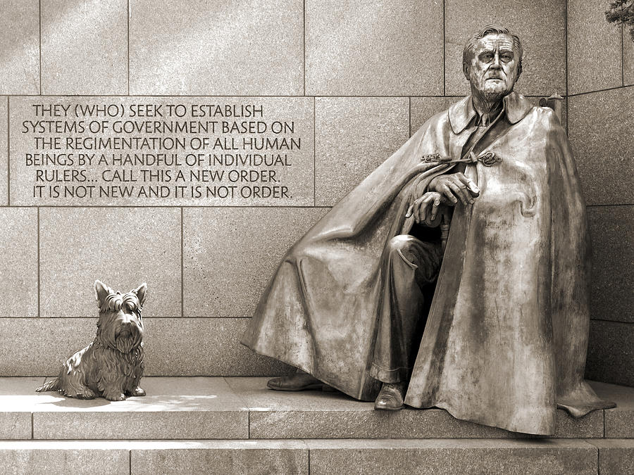 Landmarks Photograph - Franklin Delano Roosevelt Memorial - Bits And Pieces 7 by Mike McGlothlen