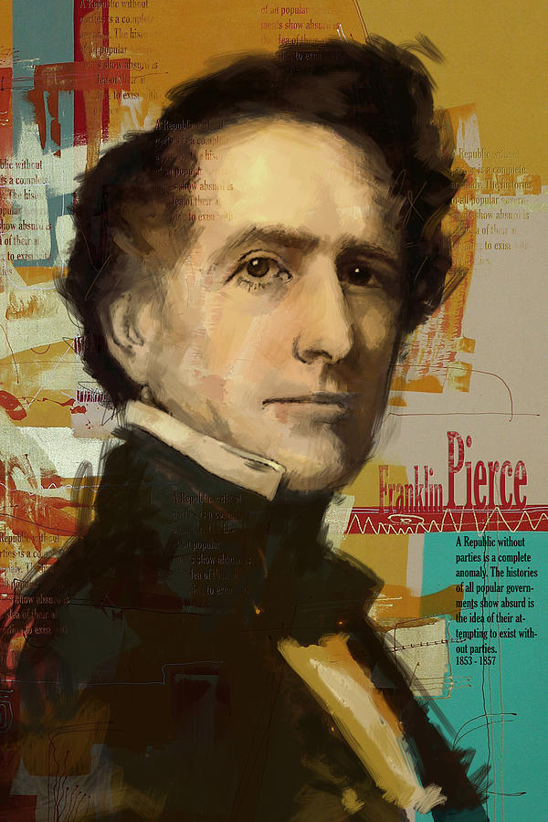 John Tyler Painting - Franklin Pierce by Corporate Art Task Force