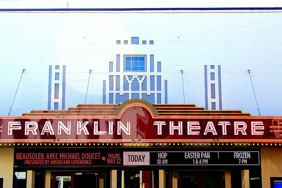 Theatres Photograph - Franklin Theatre by Anthony Jones