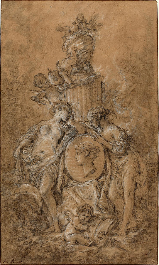 fran231ois boucher french 1703 1770 design for a funeral