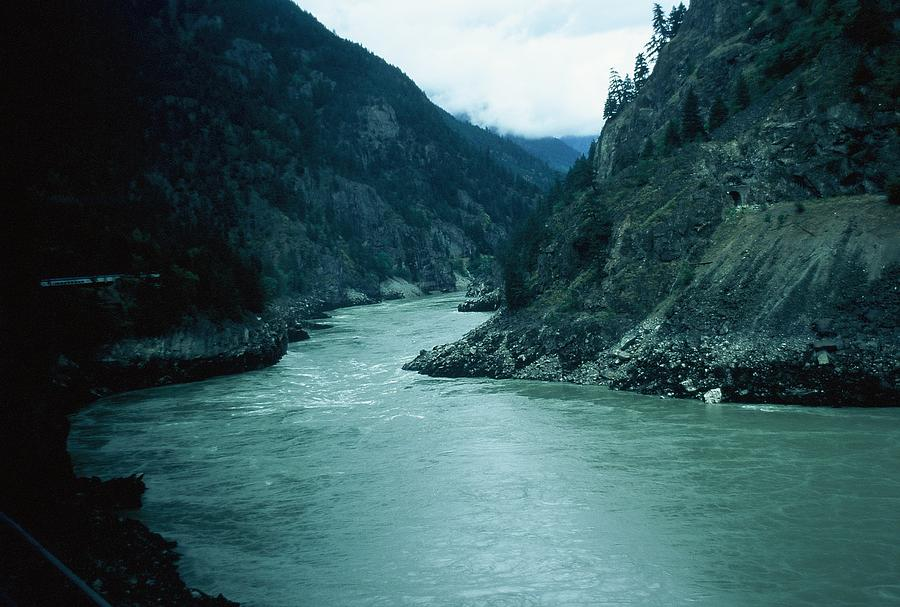 Scenic Photograph - Fraser River by Dick Willis